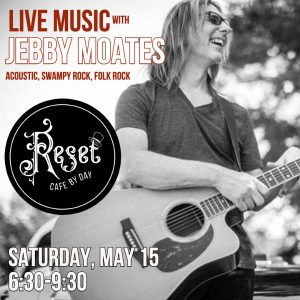 Live Music with Jebby Moates @ Reset: Cafe by Day