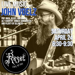 Live Music with John Voelz @ Reset: Cafe by Day